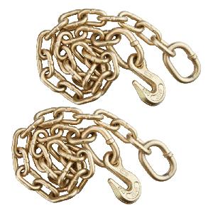 VULCAN 5/16 Inch x 30 Inch Chain Anchor With Grab Hook - Pair