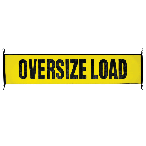 VULCAN Oversize Load Banner with Heavy Duty Metal Hooks - Stretch Cord Mesh - 18 Inch x 84 Inch