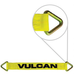 VULCAN 1-Ply Flexible Auto Tie Down Axle Strap - 3 Inch x 30 Inch - 5,000 Pound Safe Working Load