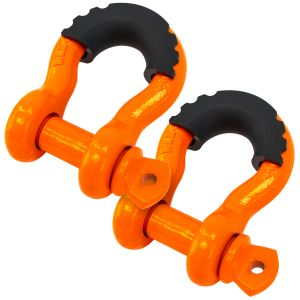 VULCAN Anchor Shackle With Screw Pin - 3/4 Inch - Grade 43 - Rubber Cover - 2 Pack - 9,500 Pound Safe Working Load