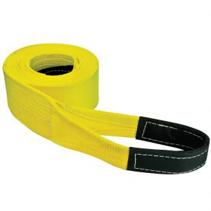 VULCAN Tow Strap with Reinforced Eyes - Heavy Duty - 4 Inch x 20 Foot - 10,000 Pound Towing Capacity