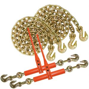 VULCAN Chain and Binder Kit - Grade 70 - 3/8 Inch x 20 Foot - 6600 Pound Safe Working Load