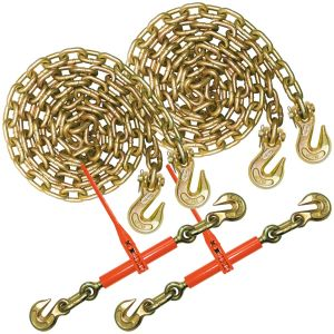 VULCAN Chain and Binder Kit - Grade 70 - 1/2 Inch x 10 Foot - 9,200 Pound Safe Working Load