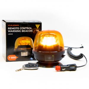 VULCAN Magnetic Amber Remote-Control Beacon - Class 2 - High Intensity - For Oversize Loads, Trucks, Trailers, SUVs, High Lows, And Pilot Cars