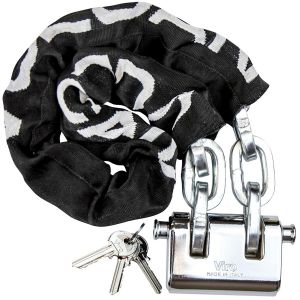 VULCAN Security Chain and Lock Kit - Premium Case-Hardened - 5/16 Inch x 3 Foot (+/- 1.5 Inches) - Chain Cannot Be Cut with Bolt Cutters or Hand Tools