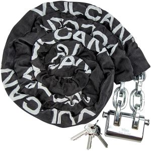 VULCAN Security Chain and Lock Kit - Premium Case-Hardened - 5/16 Inch x 9 Foot Chain (+/- 1.5 Inches) - Cannot Be Cut with Bolt Cutters or Hand Tools