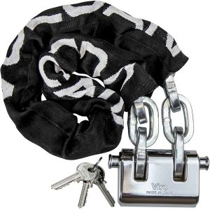 """VULCAN Security Chain and Lock Kit - Premium Case-Hardened - 3/8"""" x 3' Chain Cannot Be Cut with Bolt Cutters or Hand Tools"""