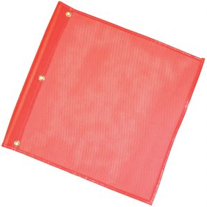 VULCAN Safety Flag with Grommets  - Orange - Premium Vinyl Coated Nylon Construction - 18 Inch x 18 Inch