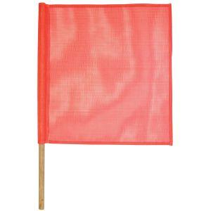 VULCAN Safety Flag with Dowel - Premium Vinyl Coated Nylon - Orange - 18 Inch x 18 Inch