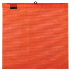 VULCAN Safety Flag with Wire Loop - Bright Orange - Vinyl Coated Polyester Construction - 18 Inch x 18 Inch