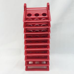 Scratch And Dent Corner Protector - 4 Inch - Plastic Red - Case of 10