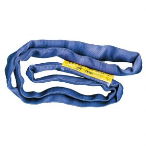 VULCAN Round Sling - Super Duty - 16 Foot - Blue - Safe Working Load of 21,200 lbs. (V), 17,000 lbs. (C) and 42,400 lbs. (B)