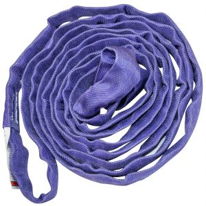 VULCAN Round Sling - Light Duty - 4 Foot - Purple - Safe Working Load of 2,600 lbs. (V), 2,100 lbs. (C) and 5,200 lbs. (B)
