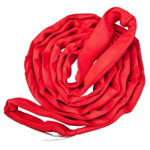 VULCAN Round Sling - Heavy Duty - 10 Foot - Red - Safe Working Load of 13,200 lbs. (V), 10,600 lbs. (C) and 26,400 lbs. (B)