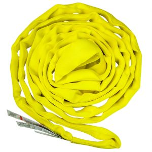 VULCAN Round Sling - Medium Duty - 8 Foot - Yellow - Safe Working Load of 8,400 lbs. (V), 6,700 lbs. (C) and 16,800 lbs. (B)