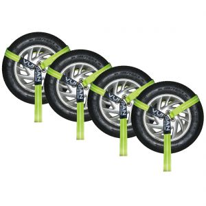 VULCAN Universal O-Ring Wheel Dolly Tire Harness - 2 Inch x 96 Inch, 4 Pack - 3,300 Pound Safe Working Load