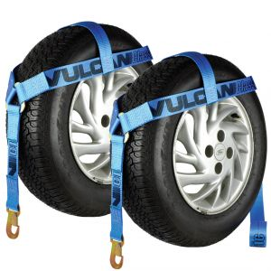 VULCAN Bonnet Style Wheel Lift Harnesses with Snap Hooks - 2 Pack - 1,600 Pound Safe Working Load