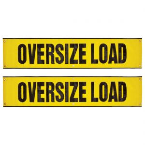 VULCAN Oversize Load Banner with Grommets, 2 Pack - Mesh - 18 Inch x 84 Inch