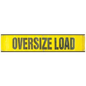 "VULCAN Oversized Load Banner 12"" x 60"" For Escort Vehicles (Mesh)"