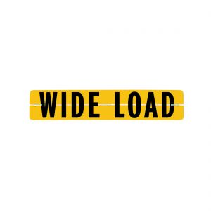 VULCAN Wide Load Sign for Escort Vehicles - Hinged Aluminum - 12 Inch x 60 Inch