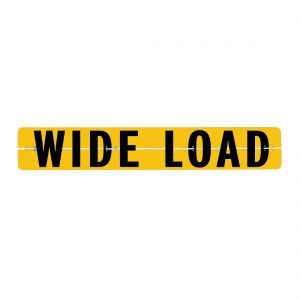 VULCAN Wide Load Sign for Trucks and Trailers - Hinged Aluminum - 12 Inch x 72 Inch