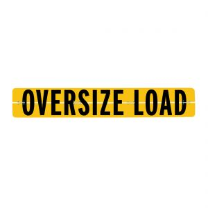 VULCAN Oversize Load Sign for Trucks and Trailers - Hinged Aluminum - 12 Inch x 72 Inch