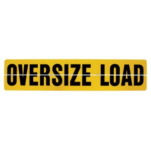 VULCAN Oversize Load Sign for Trucks and Trailers - Hinged Aluminum - 18 Inch x 84 Inch