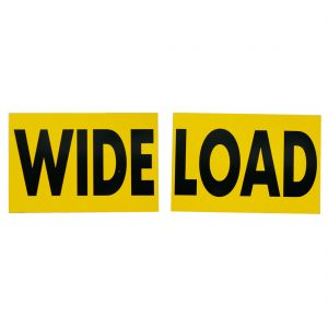 VULCAN Wide Load Sign for Trucks and Trailers, 2 Pack - Extra Large - 24 Inch x 36 Inch