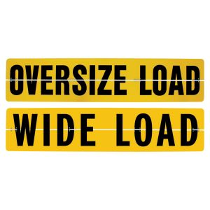 VULCAN Wide Load or Oversize Load Sign For Trucks and Trailers - Reversible - Hinged Aluminum - 18 Inch x 84 Inch