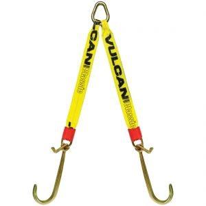 VULCAN Web Bridle with Forged Long J and T Hooks - 54 Inch - Classic Yellow - 4,700 Pound Safe Working Load