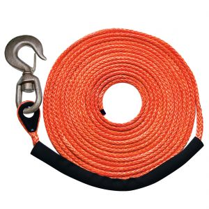 "Orange 3/8"" x 150' (swivel hook) MBS 16400 lbs., SWL 4100 lbs."