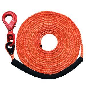 "Orange 3/8"" x 50' (locking swivel hook) MBS 16400 lbs., SWL 4100 lbs."