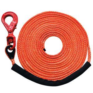 "Orange 3/8"" x 150' (locking swivel hook) MBS 16400 lbs., SWL 4100 lbs."
