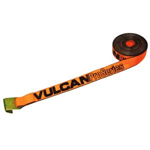 VULCAN Winch Strap with Flat Hook - 2 Inch - PROSeries - 3,300 Pound Safe Working Load