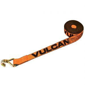 VULCAN Winch Strap with Wire Hook - 2 Inch - PROSeries - 3,300 Pound Safe Working Load