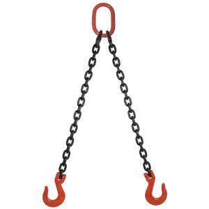 "1/2"" G80 Double Leg Mechanical Lifting Sling with Sling Hooks"